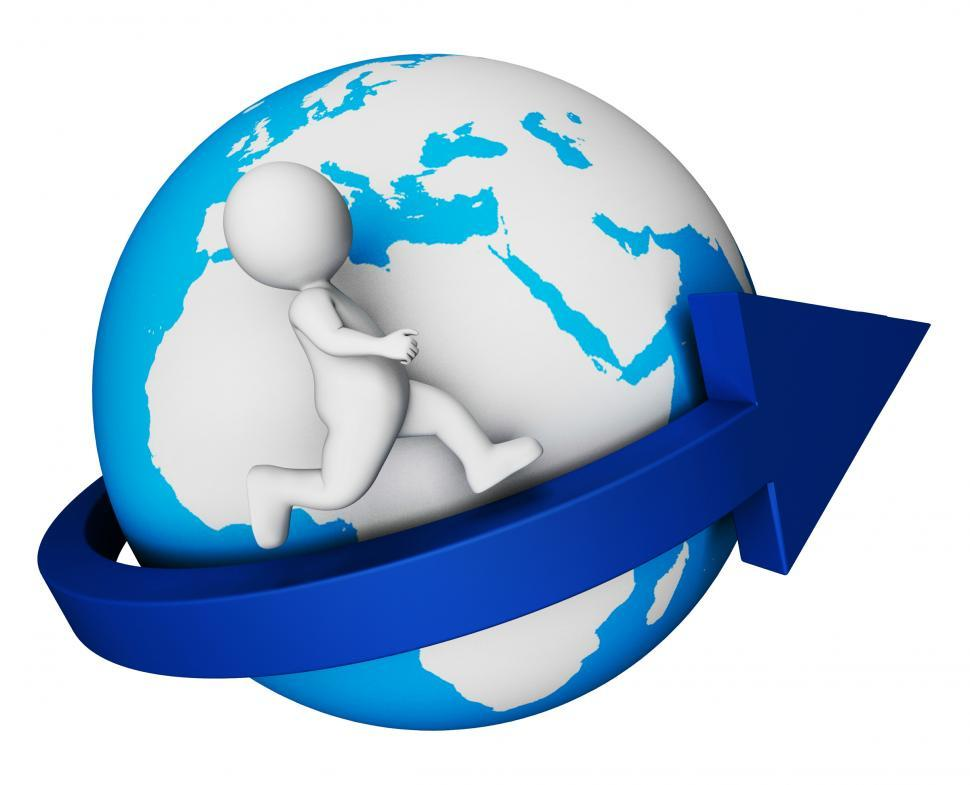 Download Free Stock HD Photo of Worldwide Globe Means Render Globally And Globalisation 3d Rende Online