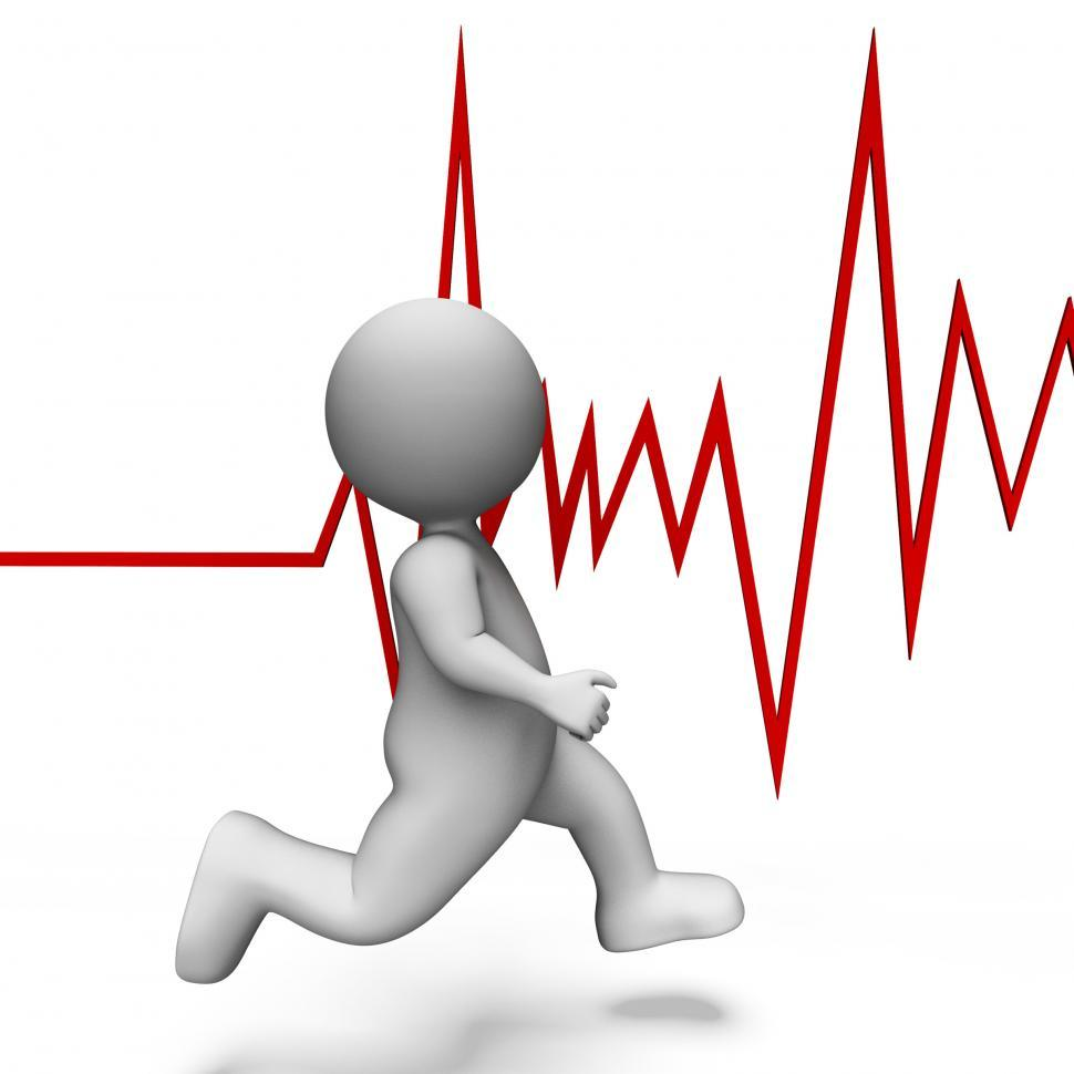 Download Free Stock HD Photo of Health Heartbeat Shows Beating Well And Jog 3d Rendering Online