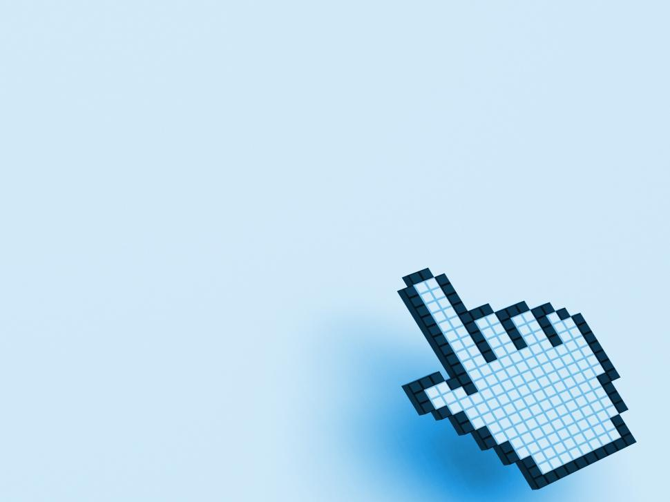 Get Free Stock Photos of Cursor Hand On Blue Background