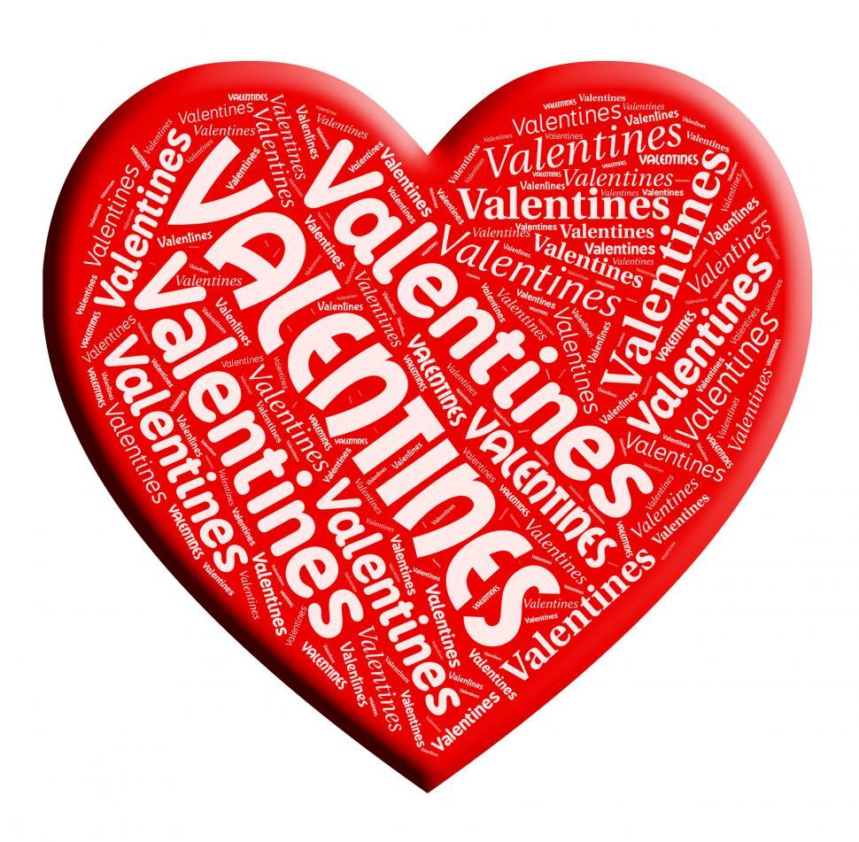 Download Free Stock HD Photo of Valentines Heart Shows Celebration Loving And Passionate Online