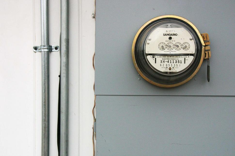 Download Free Stock HD Photo of Modern electric meter Online