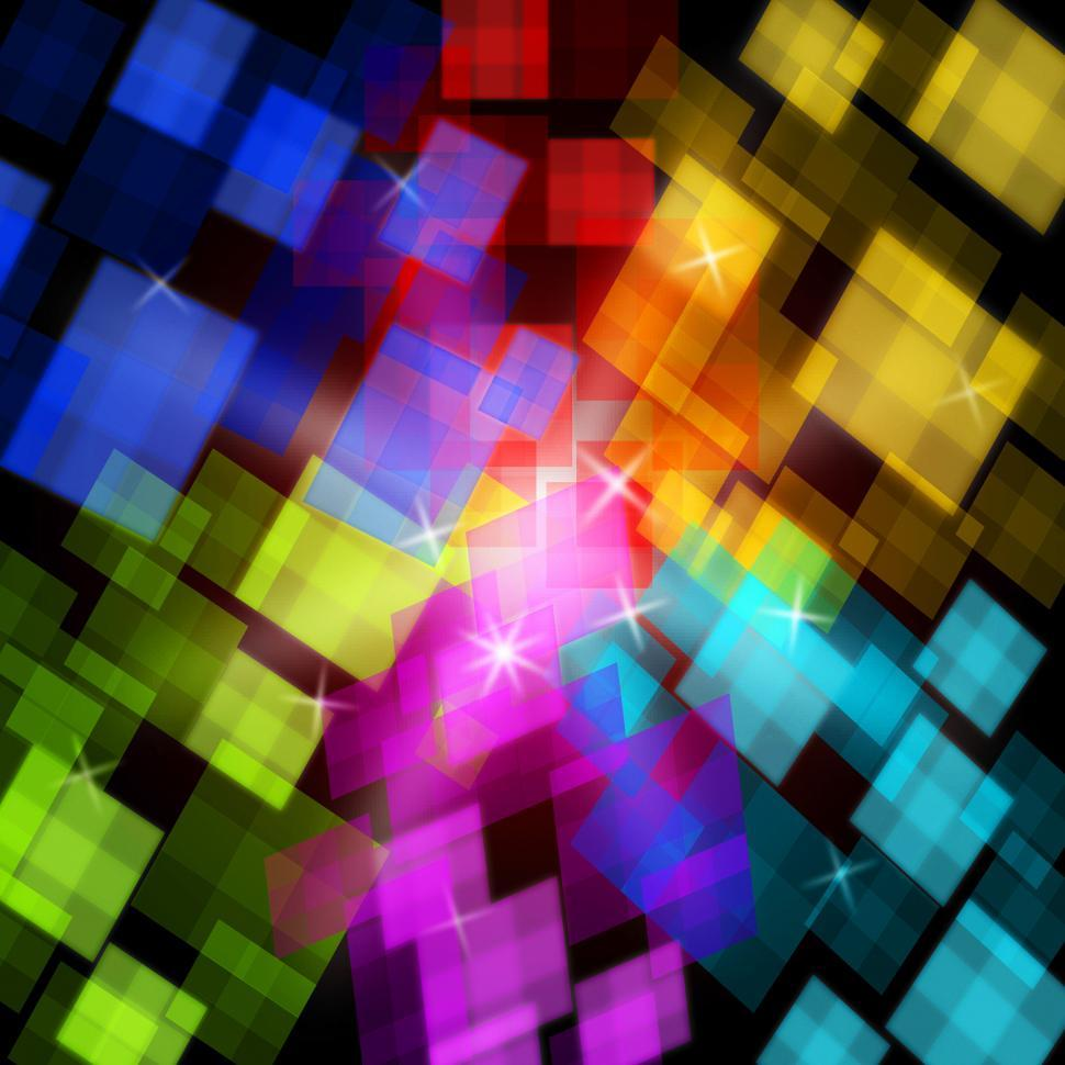 Download Free Stock HD Photo of Colourful Cubes Background Shows Digital Art Or Design Online