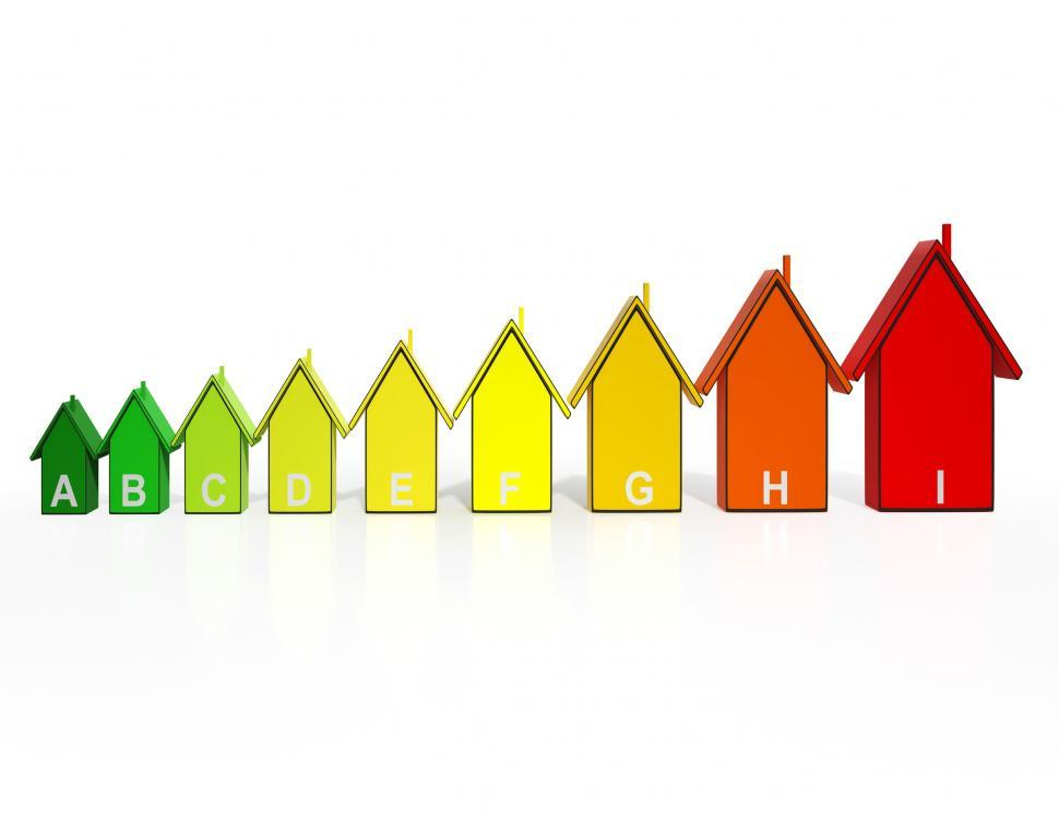 Download Free Stock HD Photo of Energy Efficiency Rating Houses Showing Eco Buildings Online