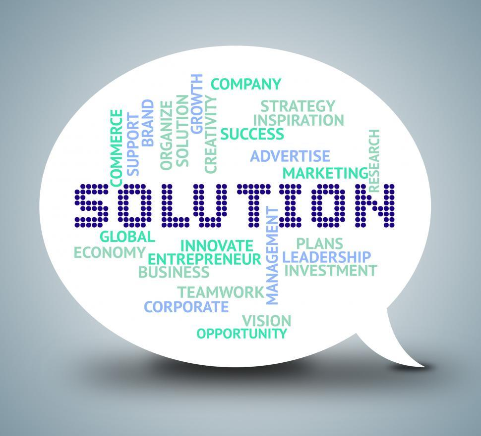 Download Free Stock HD Photo of Solution Bubble Means Successful Goals And Achievement Online