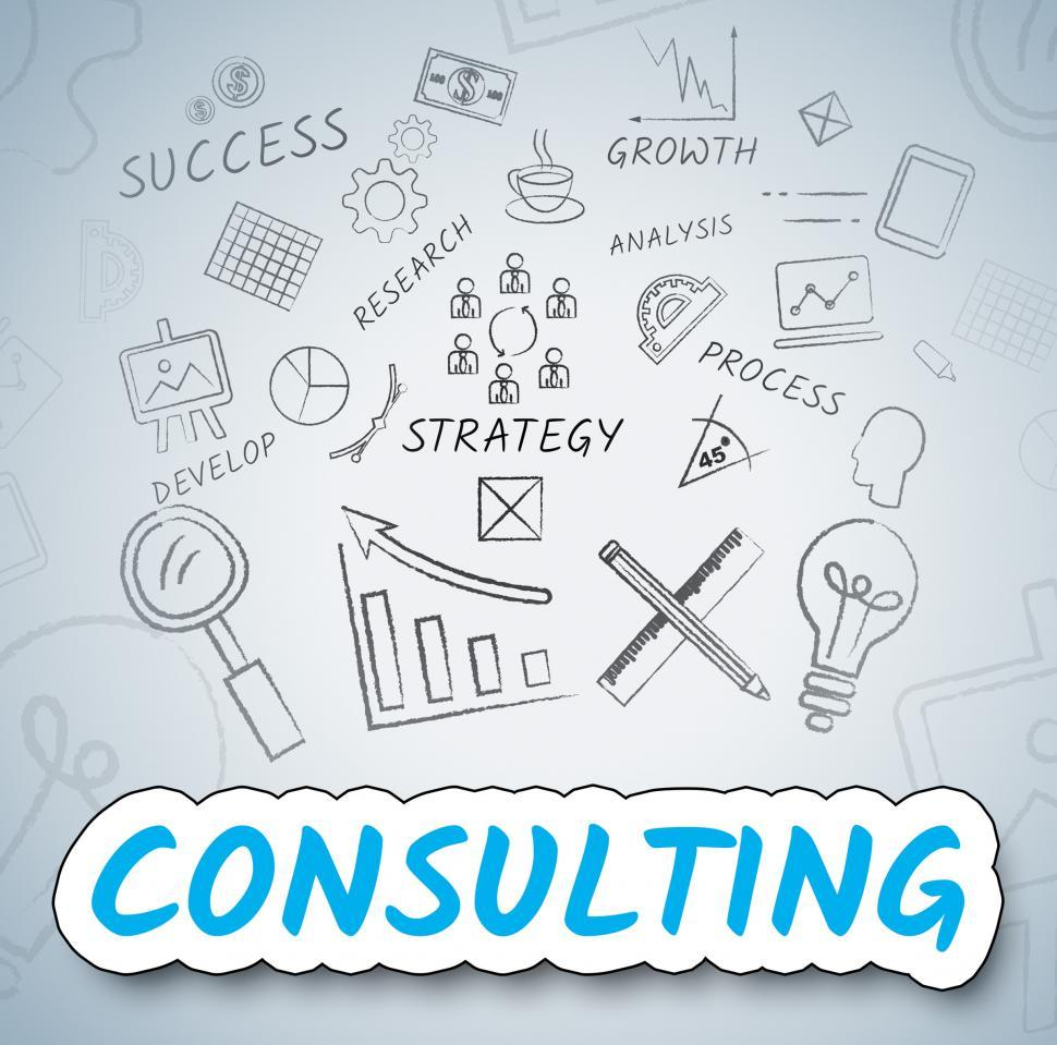 Download Free Stock HD Photo of Consulting Ideas Shows Seek Advice And Ask Online