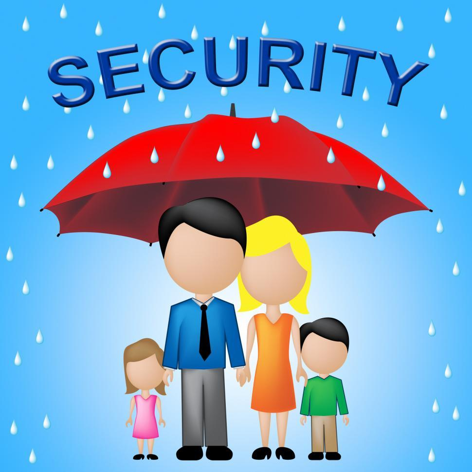 Download Free Stock HD Photo of Family Security Indicates Parents Protecting Their Children Online