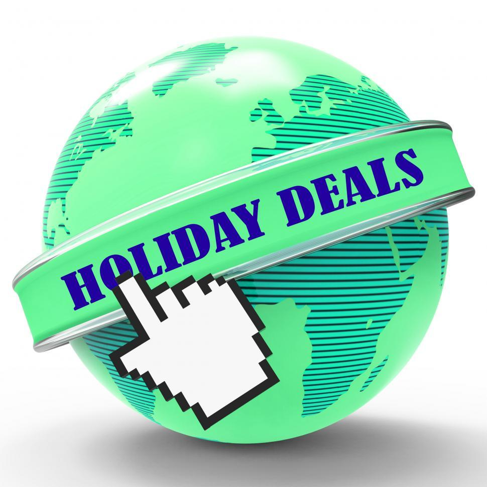 Download Free Stock HD Photo of Holiday Deals Indicates Promo Vacation And Vacationing Online