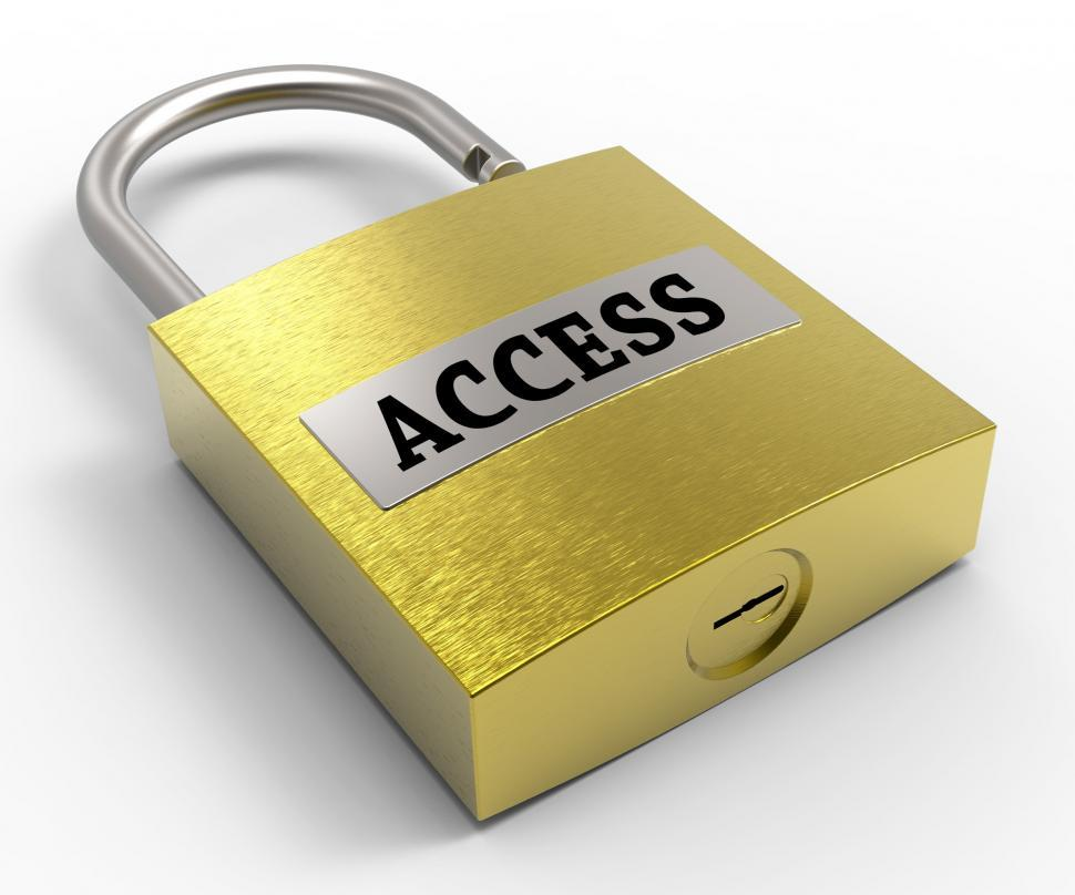 Download Free Stock HD Photo of Access Padlock Means Admittance Permission And Accessibility 3d  Online