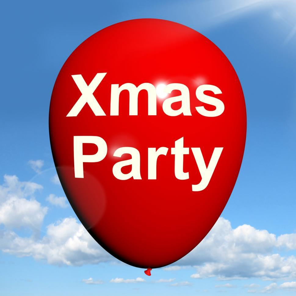Download Free Stock HD Photo of Xmas Party Balloon Shows Christmas Festivity and Celebration Online