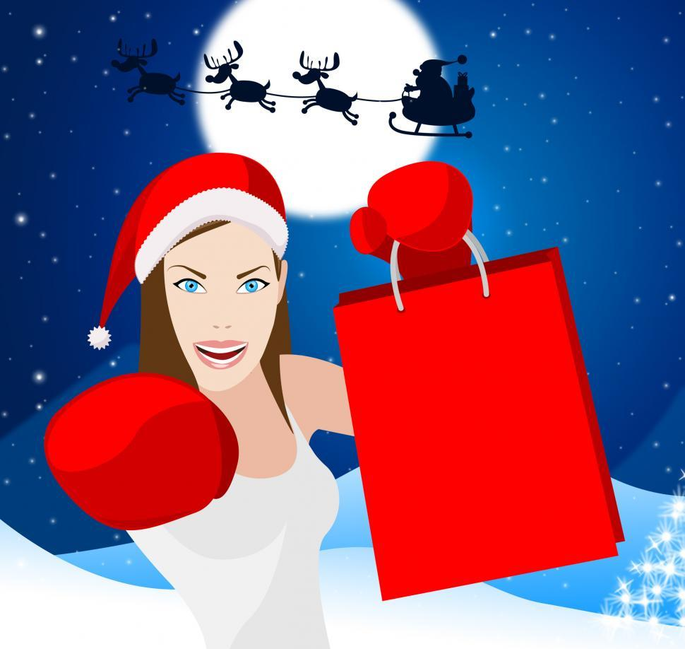 Download Free Stock HD Photo of Christmas Shopping Shows Retail Sales And Adult Online