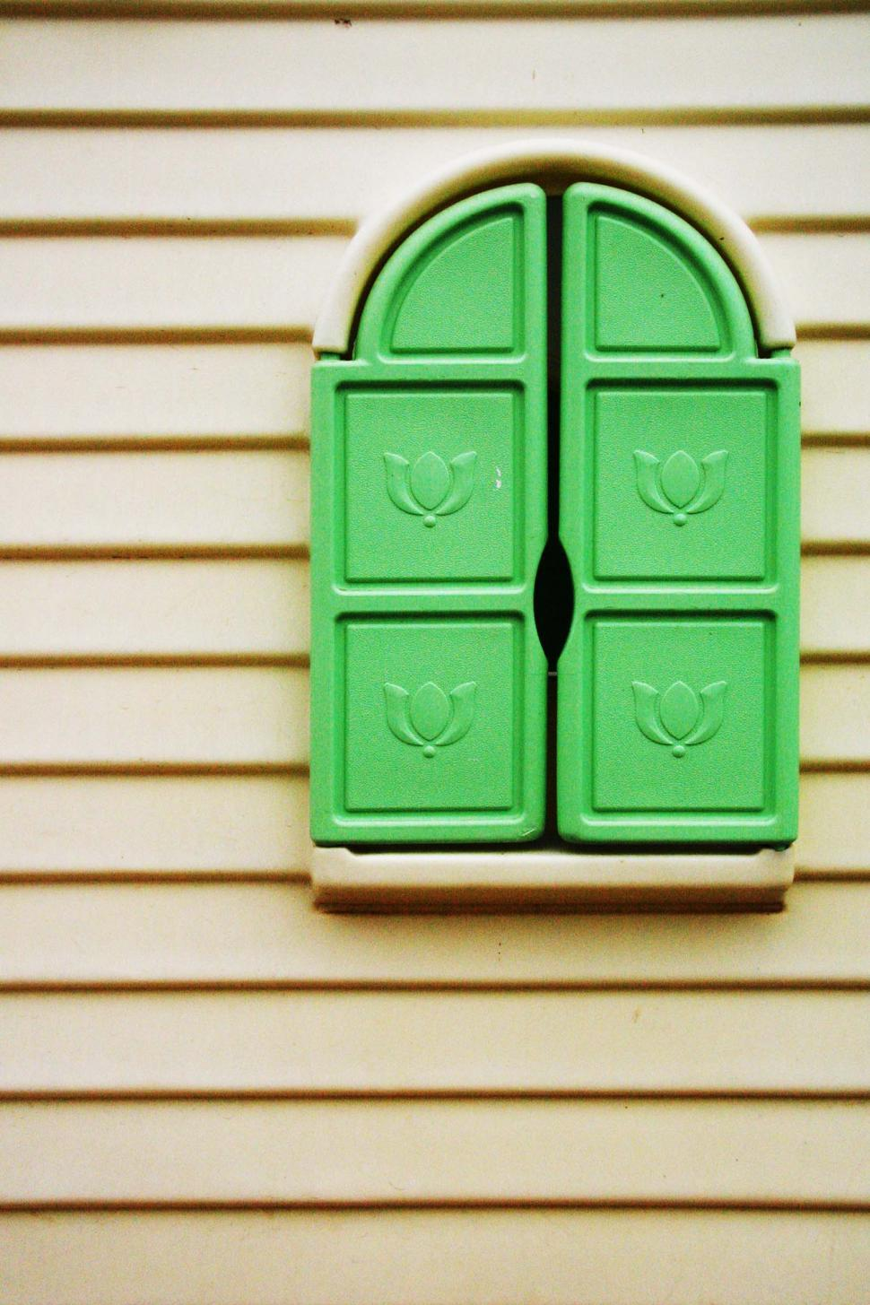 Download Free Stock HD Photo of Green shutters on the playhouse Online