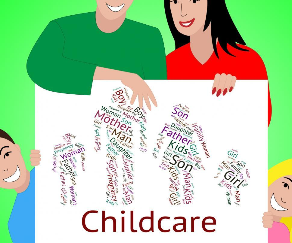 Free Stock Photo of Childcare Word Represents Looking After And ...