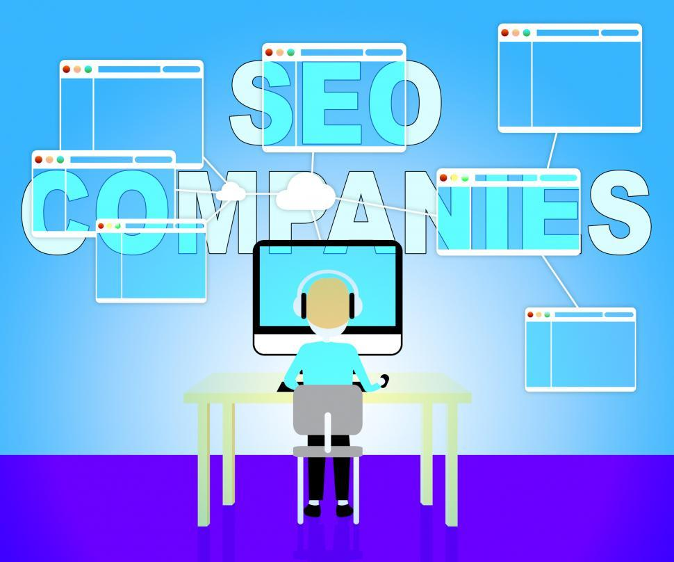 Seo Companies Means Search Engines 3d Illustration