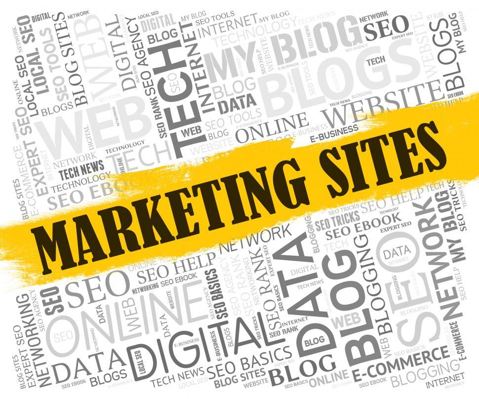 Download Free Stock HD Photo of Marketing Sites Indicates Search Engine And Ecommerce Online
