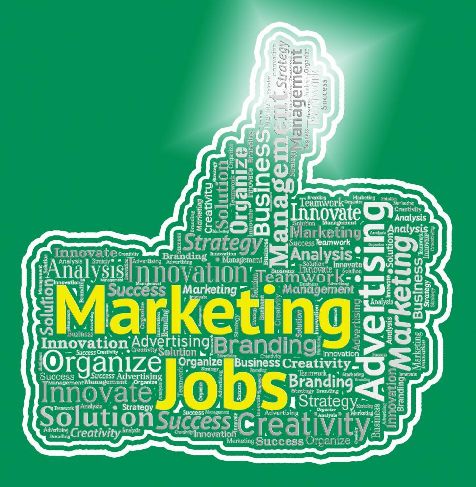 Get Free Stock Photos Of Marketing Jobs Thumb Represents Promotion
