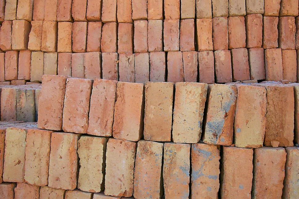 Download Free Stock HD Photo of Bricks in a Stack Online
