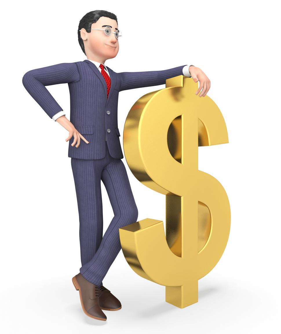 Download Free Stock HD Photo of Dollars Businessman Represents Wealthy Bank And Entrepreneurs 3d Online