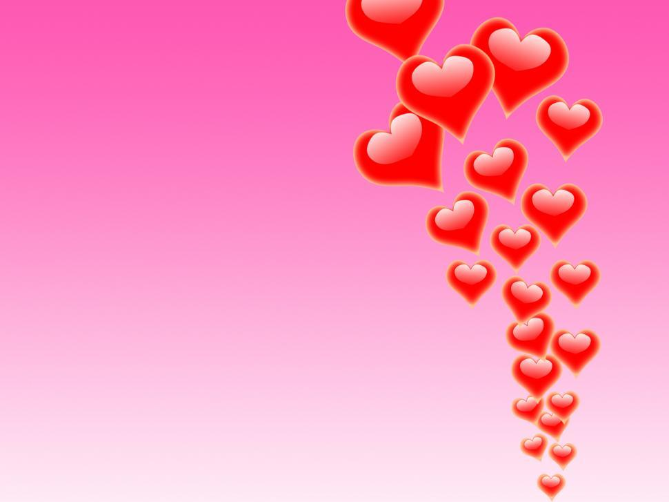 Download Free Stock HD Photo of Hearts On Background Mean Cheerful Relationship And Happiness Online
