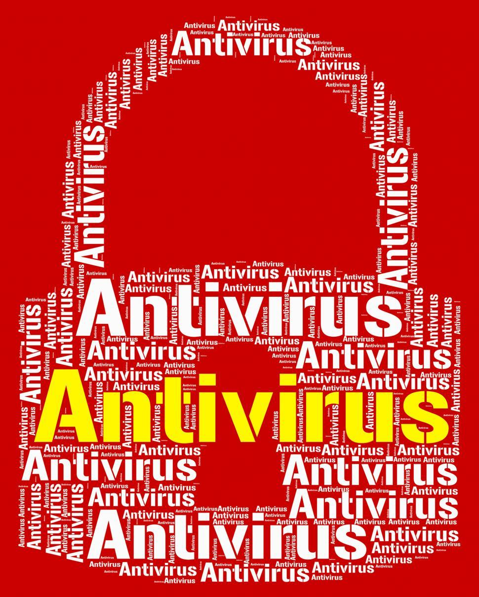 Download Free Stock HD Photo of Antivirus Lock Means Malicious Software And Infected Online