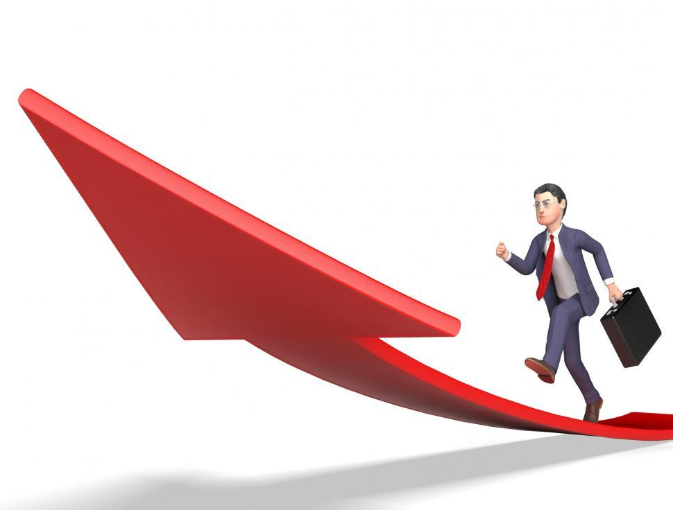 Download Free Stock HD Photo of Aims Arrow Shows Business Person And Ahead 3d Rendering Online