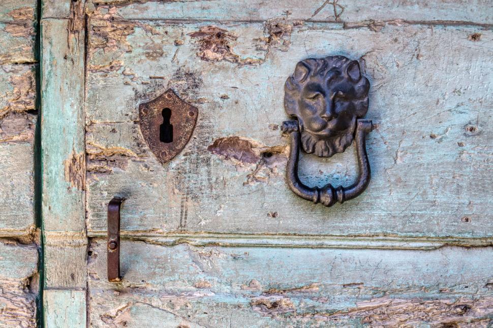 Download Free Stock HD Photo of Old door knocker Online
