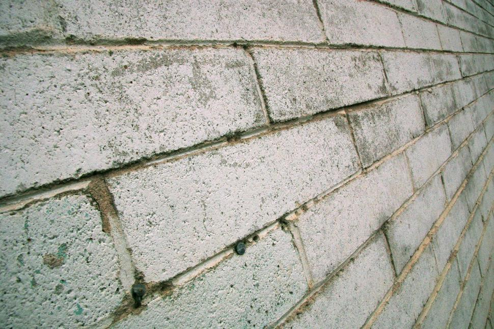 Download Free Stock HD Photo of White block wall perspective Online
