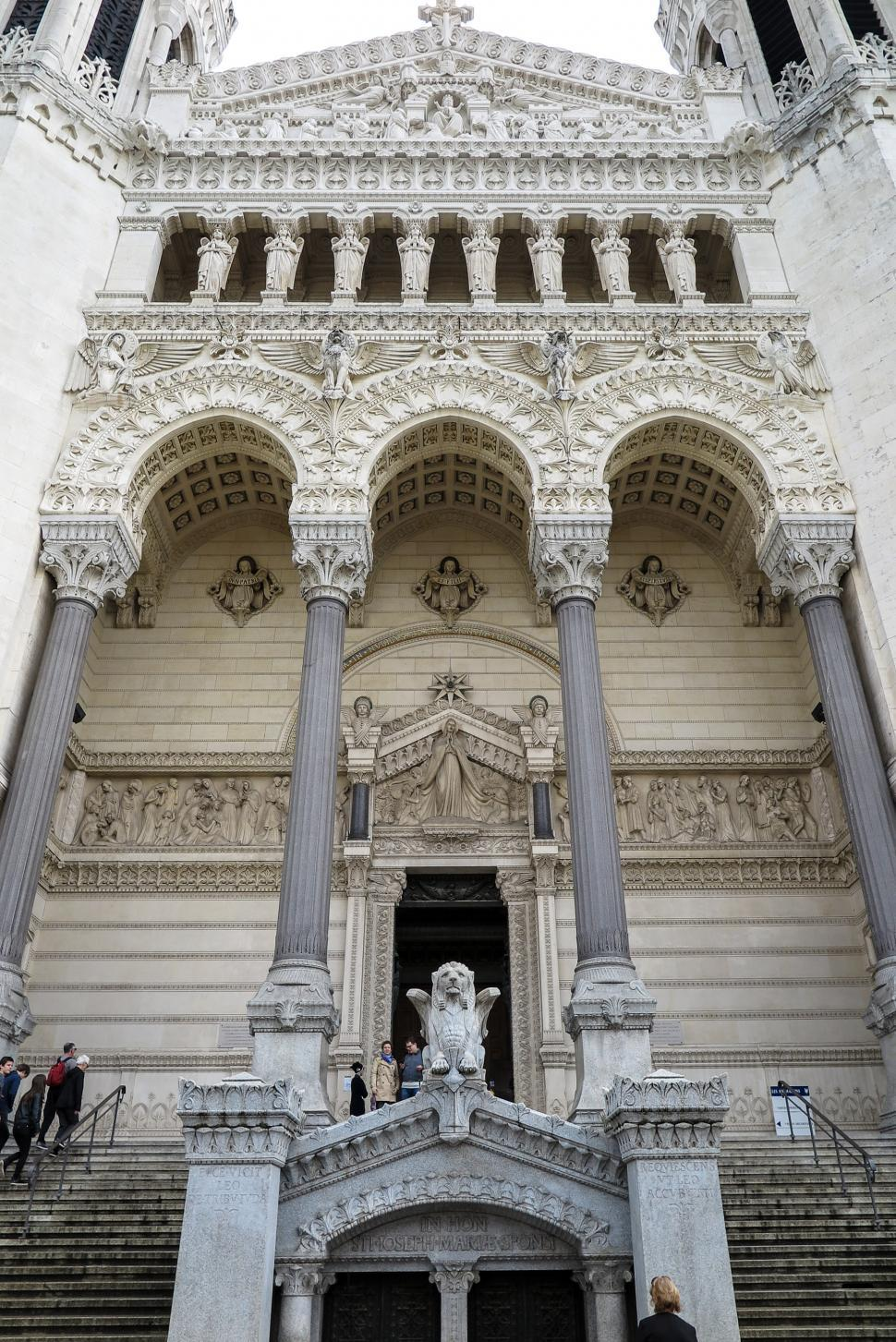 Download Free Stock HD Photo of Front of the Lyon Cathedral Online