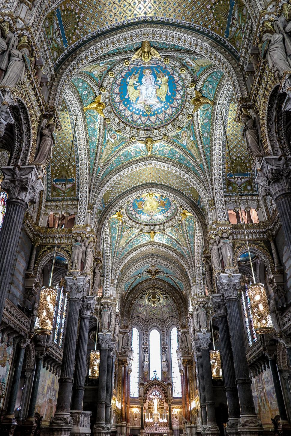 Download Free Stock HD Photo of Interior of the Lyon Cathedral Online