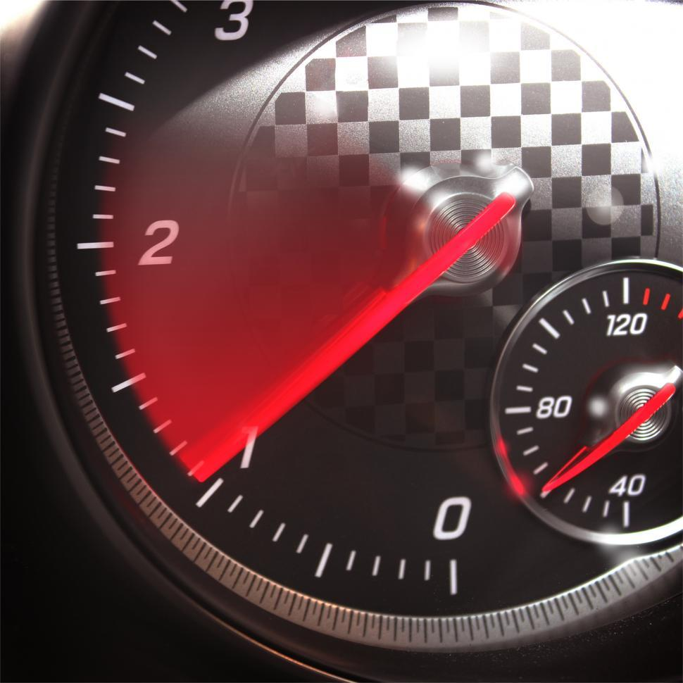 Download Free Stock HD Photo of Sports Car RPM Gauge - Tachometer Speeding Up Online