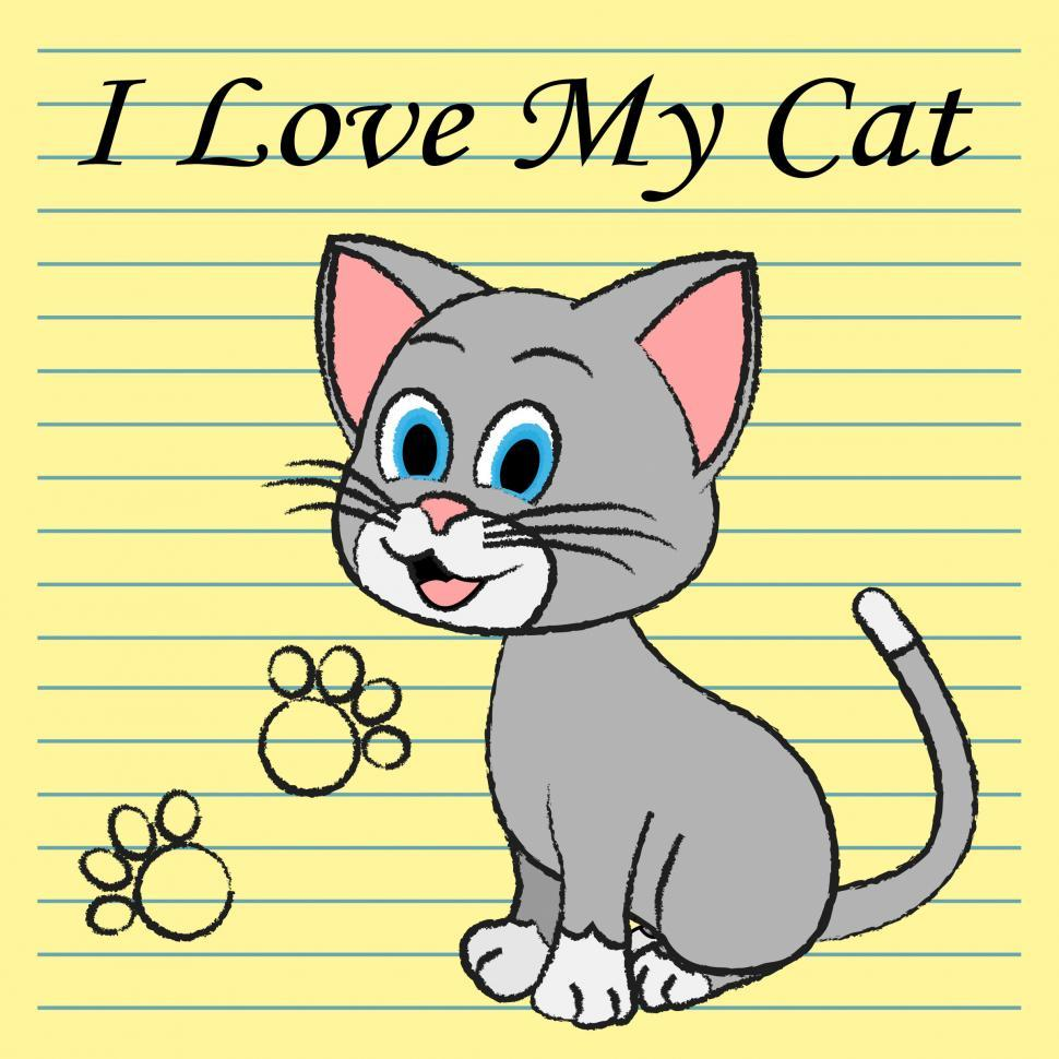 Download Free Stock HD Photo of Love My Cat Represents Pet Tenderness And Compassion Online