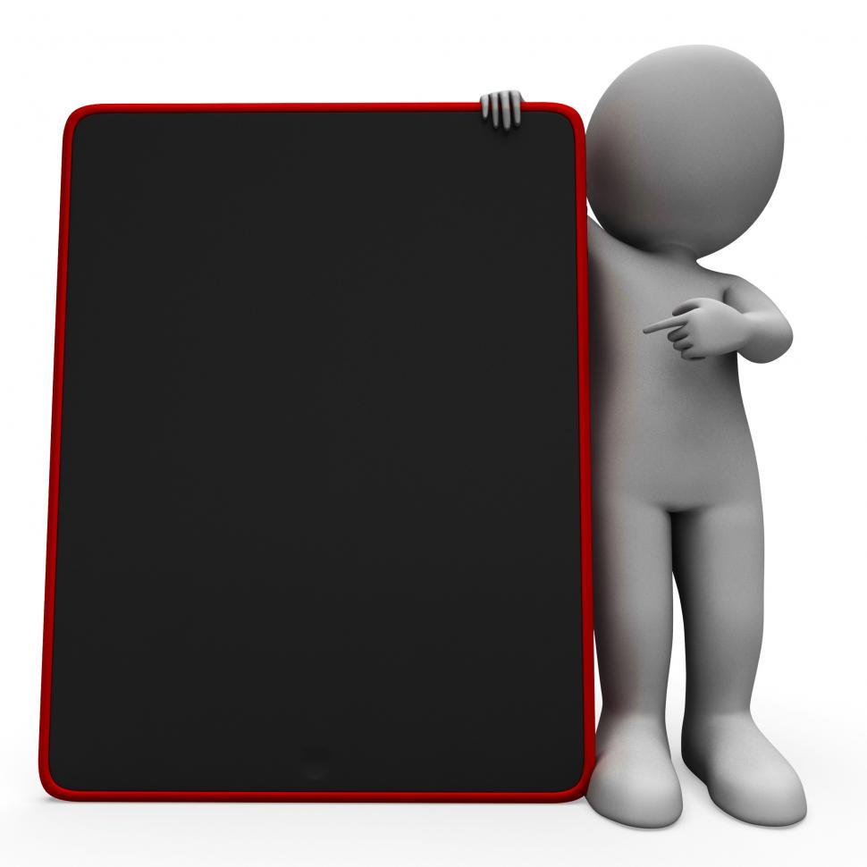 Download Free Stock HD Photo of Blank Space Tablet Computer Shows Touchpad Multimedia Online