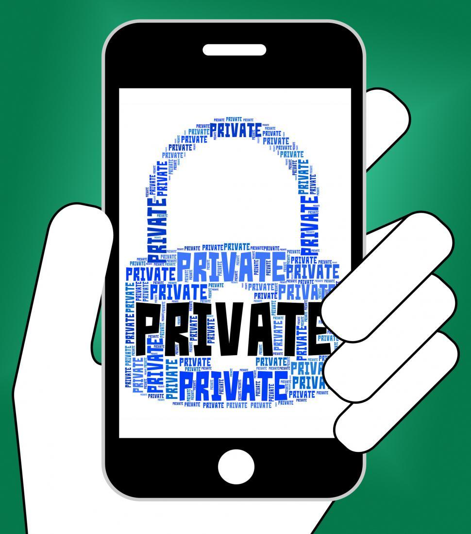 Download Free Stock HD Photo of Private Lock Shows Secrecy Classified And Words Online