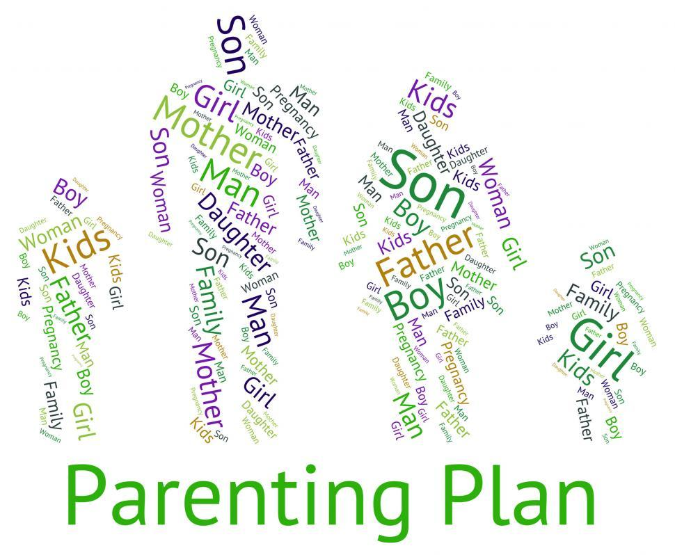 Download Free Stock HD Photo of Parenting Plan Represents Mother And Child And Childhood Online