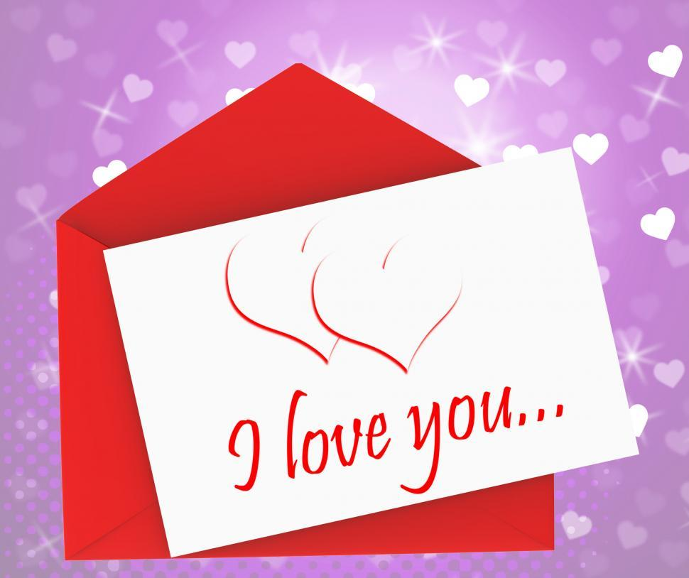 Download Free Stock HD Photo of I Love You On Envelope Means Valentines Card Or Romantic Letter Online