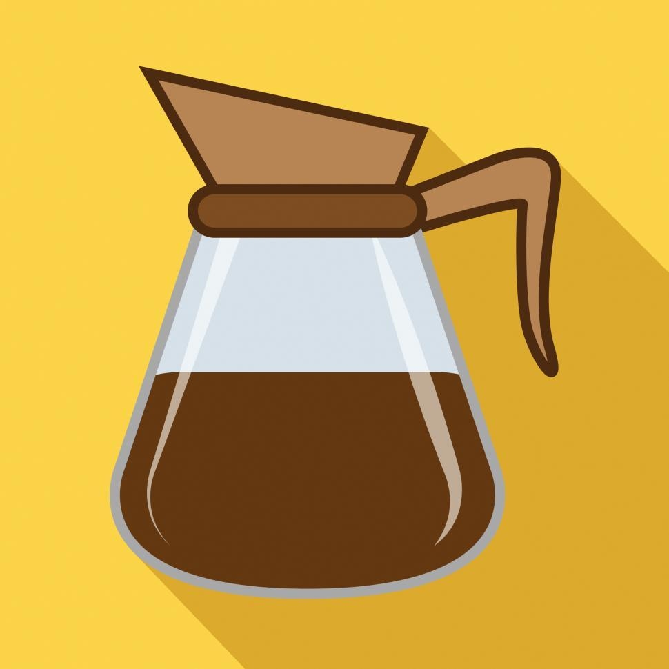 Download Free Stock HD Photo of Brewed Coffee Icon Indicates Restaurant Roasted And Cafe Online