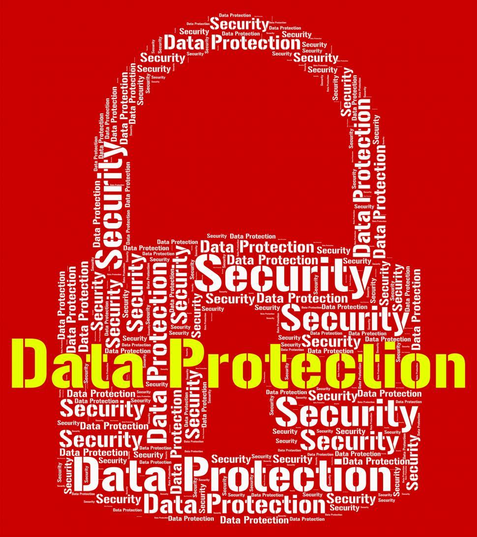 Download Free Stock HD Photo of Data Protection Represents Forbidden Secured And Wordcloud Online