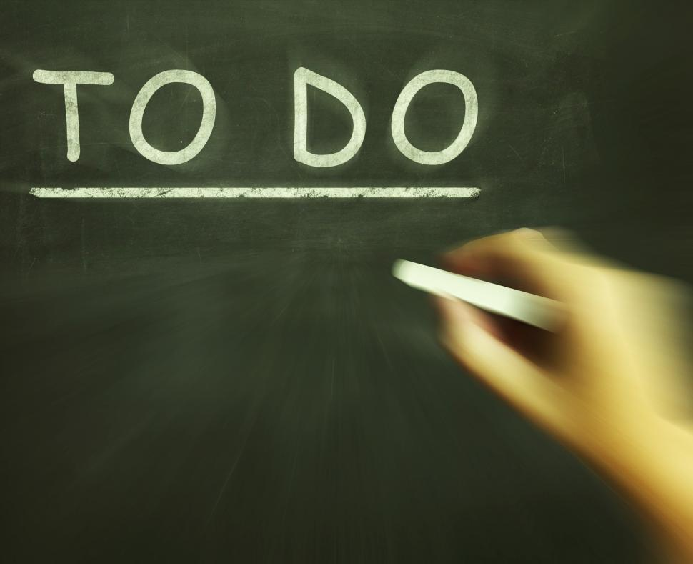 Get Free Stock Photos Of To Do Chalk Shows Agenda And List Of Tasks