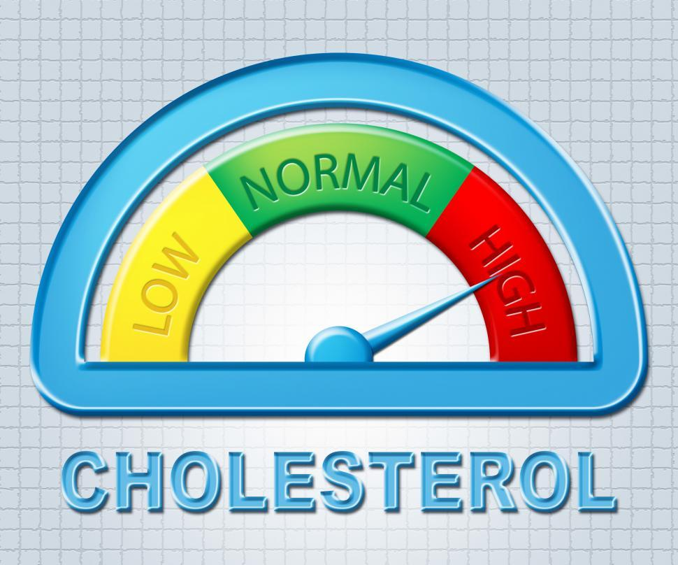 Download Free Stock HD Photo of High Cholesterol Means Gauge Maximum And Excess Online