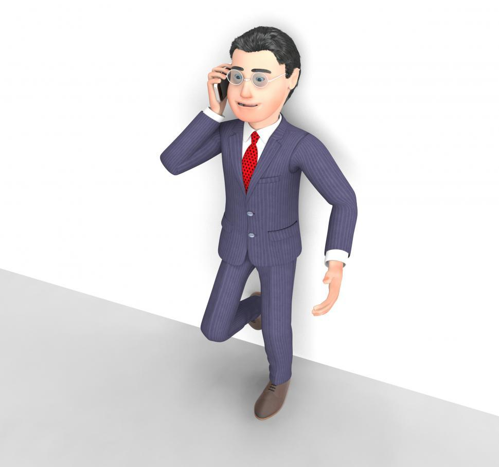 Download Free Stock HD Photo of Talking Businessman Means Call Now And Communicating 3d Renderin Online