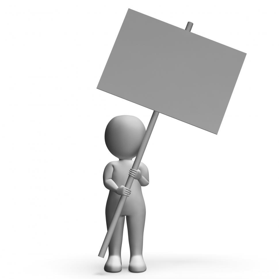 Download Free Stock HD Photo of Character With Placard For Message Or Presentation Online