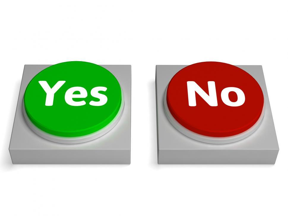 Get Free Stock Photos of Yes No Buttons Shows Validation ...
