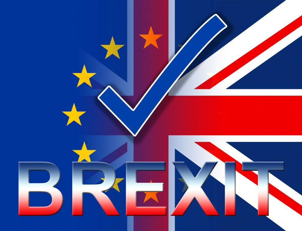 Download Free Stock HD Photo of Brexit Tick Shows British Yes And Kingdom Online