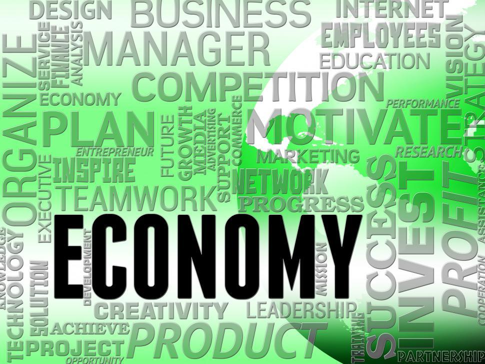 Download Free Stock HD Photo of Economy Words Means Macro Economics And Finance Online