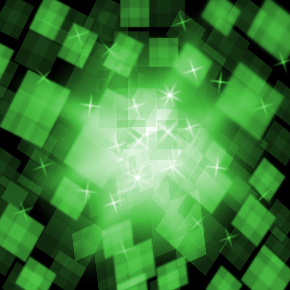 Download Free Stock HD Photo of Green Cubes Background Means Stylish Decoration Or Abstract Art Online
