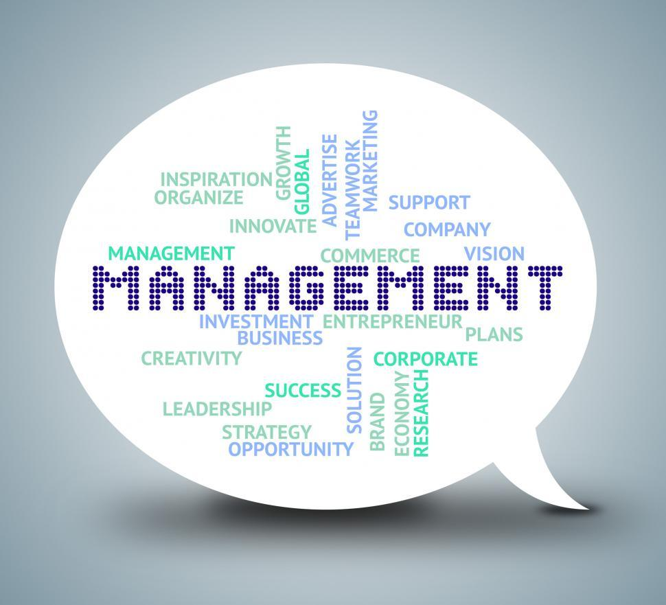 Download Free Stock HD Photo of Management Bubble Shows Authority Planning 3d Illustration Online