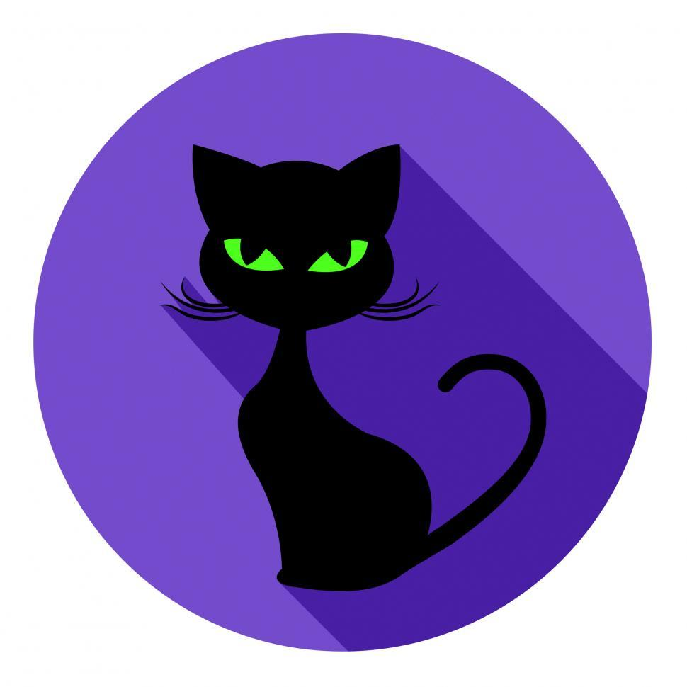 Download Free Stock HD Photo of Halloween Cat Icon Means Trick Or Treat And Autumn Online