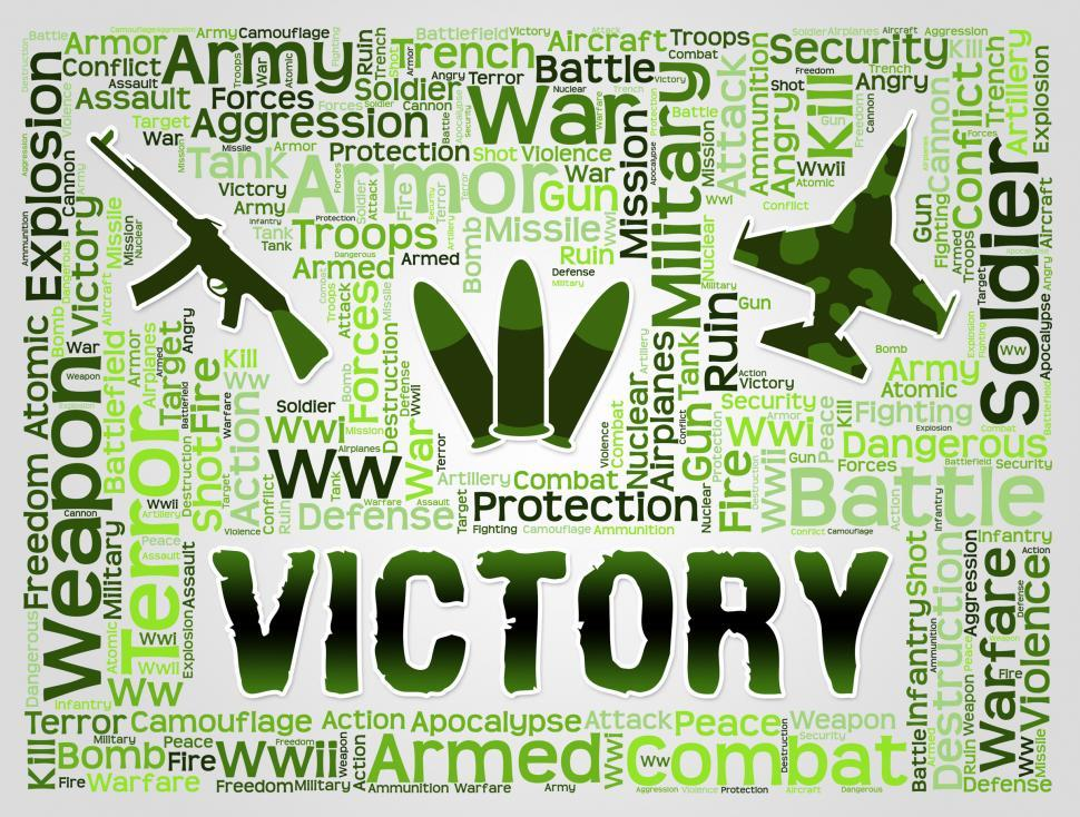 Download Free Stock HD Photo of Victory Words Means Winning Battle And Victorious Online
