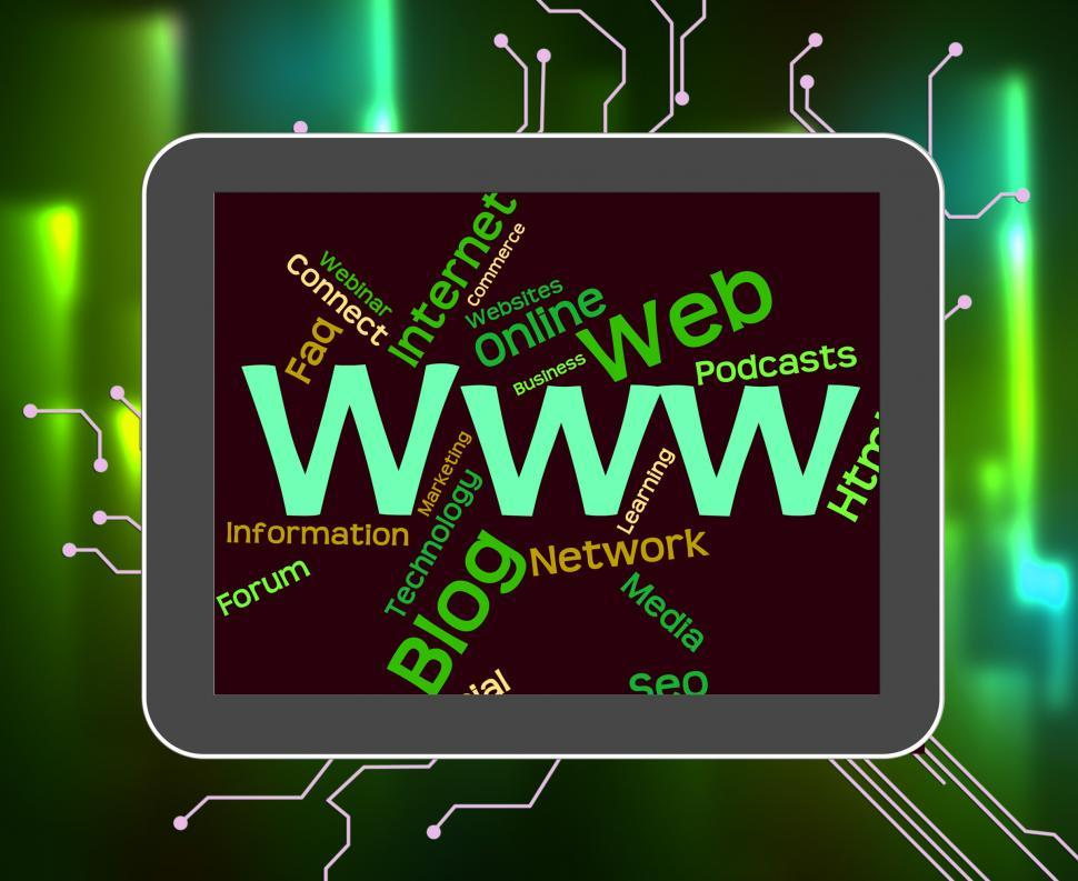 Download Free Stock HD Photo of Www Word Represents World Wide Web And Internet Online