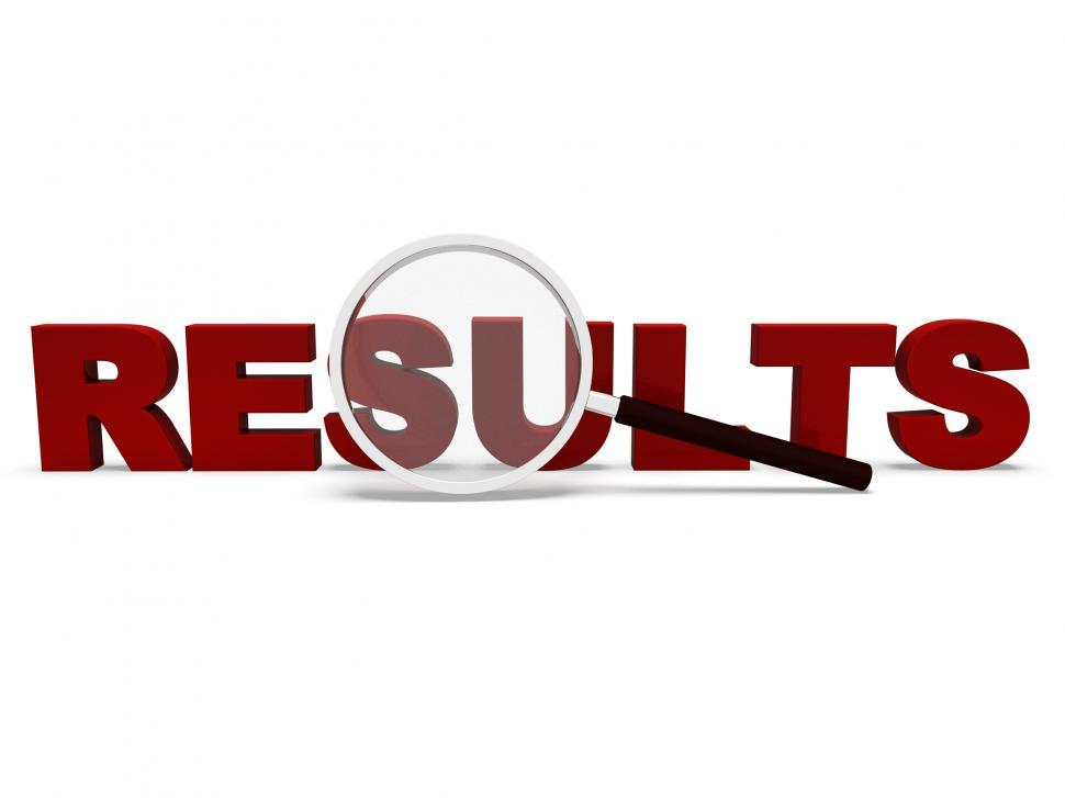 Download Free Stock HD Photo of Results Word Shows Scores Result Or Achievements Online