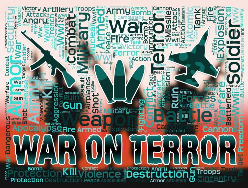 Download Free Stock HD Photo of War On Terror Represents Military Action And Attack Online
